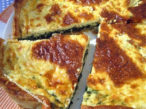 recette quiche avec pate feuilletee quiche aux 233 pinards et au boursin couscous et puddings