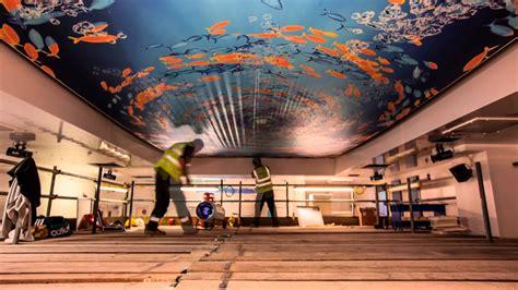 barrisol 174 print stretch ceiling installation youtube