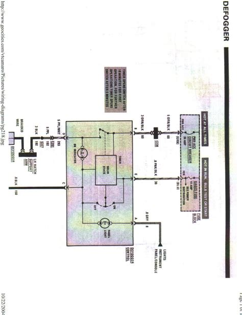 Wiring Diagram For Rear Defrost Button Third Generation