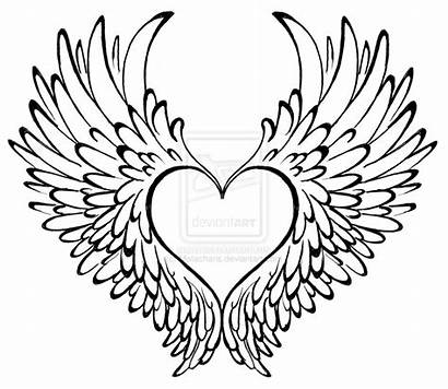 Wings Hearts Roses Clipart Heart Tattoo Clipground