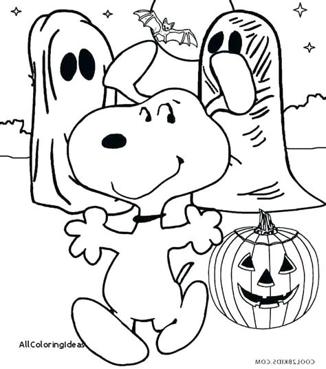 Peanuts Halloween Coloring Pages At