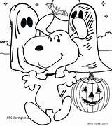 Coloring Halloween Charlie Brown Peanuts Printable Getcolorings Getdrawings sketch template
