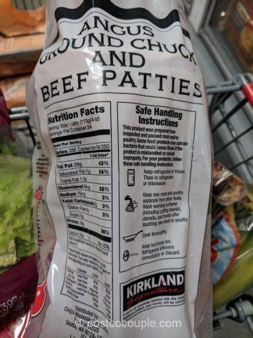 kirkland signature angus chuck beef patties