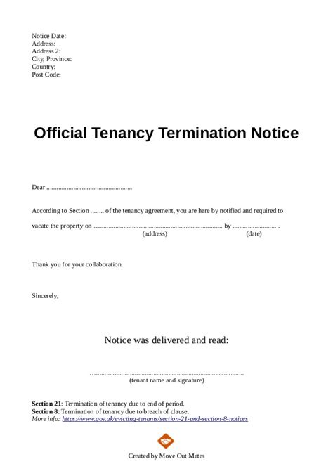 termination of lease letter sle tenant agreement letter sle rental agreement