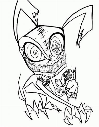 Coloring Scary Pages Printable