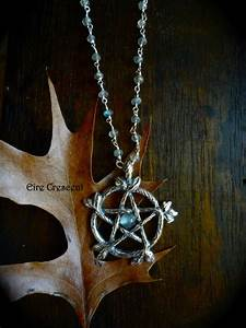 Woodland Pentacle Necklace (Moonstone and Labradorite ...