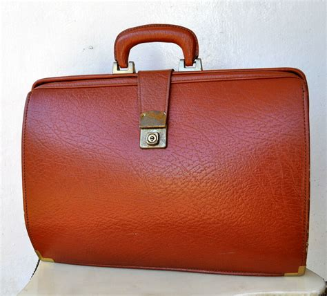 Cowhide Briefcase by Vintage Antique Large Tanned Textured Cowhide Leather