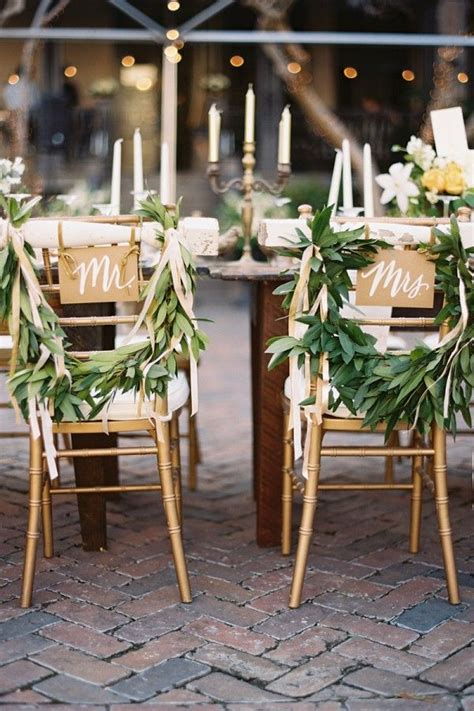 chair decor wedding