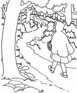 red riding hood coloring pages - red hood free coloring pages