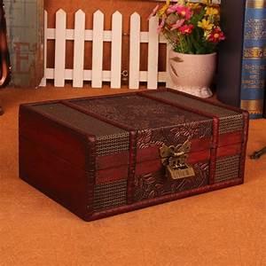 European, Vintage, Wood, Box, With, Lock, Storage, Box, Rectangle, Desktop, Box, Antique, Wooden, Jewelry, Box