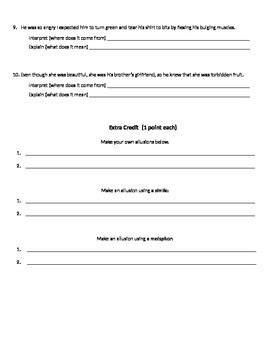 Allusions Practice Worksheet By Sarah Brown  Teachers Pay Teachers