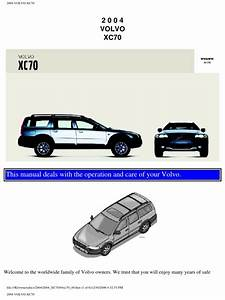 Volvo Xc70 2004 User Manual