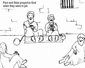 Paul And Silas Coloring Page Az Coloring Pages