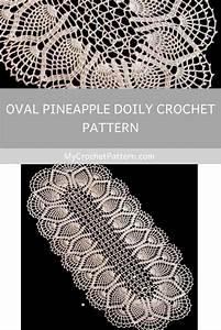 Oval Pineapple Doily Crochet Pattern  Ufe0f Mycrochetpattern