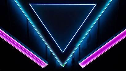 Neon Triangle Shape 4k Background 1080p Fhd