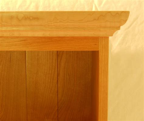 shaker bookcase  curly maple  cherry
