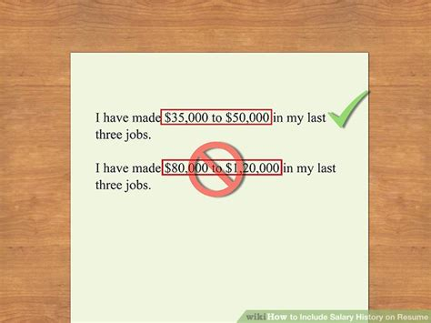 how do you include salary history in a cover letter how to include salary history on resume 11 steps with pictures
