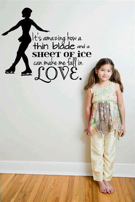 love ice skating decal girls wall sticker
