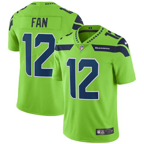 rush soccer fan gear 12 fan seattle seahawks nike vapor untouchable color rush