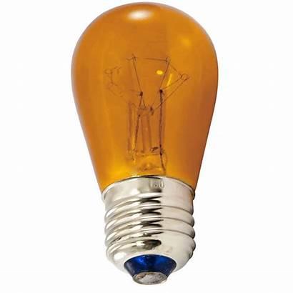Amber Bulbs S14 Base Commercial Medium String