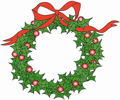Clipart Wreath Clip Holidays Happy December Holiday