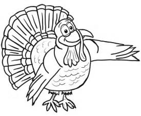 Cartoon Thanksgiving Turkey Coloring Pages