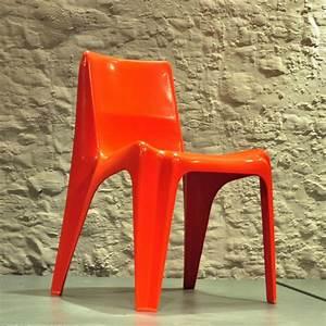 Panton Chair Rot : orange bofinger chair stuhl chaise ~ Markanthonyermac.com Haus und Dekorationen