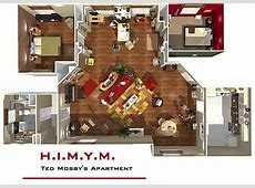 How I Met Your Mother apartment in 3D! HomeByMe