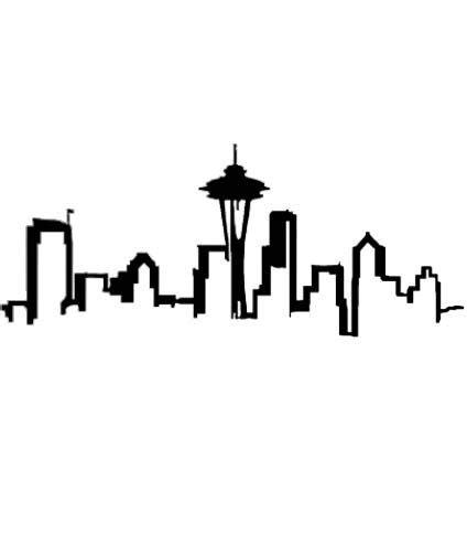 seattle skyline outline clipart  tattoo brainstorm