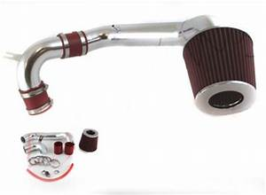 Dodge Neon 1995 1999 Polished Cold Air Intake with Red Air