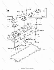 Kawasaki Motorcycle 2002 Oem Parts Diagram For Cylinder Head Cover