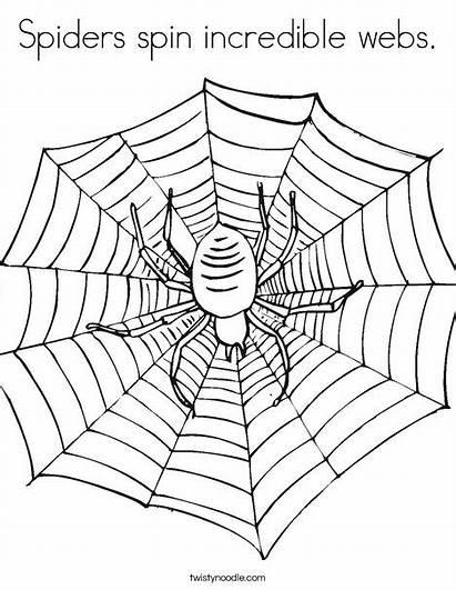 Spider Coloring Web Spiders Spin Webs Worksheet
