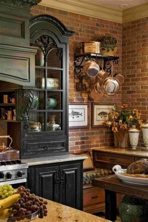 distressed black kitchen cabinets  rustic kitchen style
