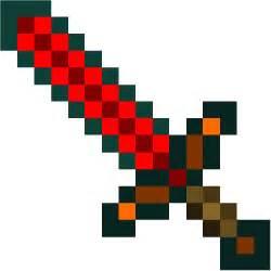Minecraft Papercraft Life-Size Diamond Sword