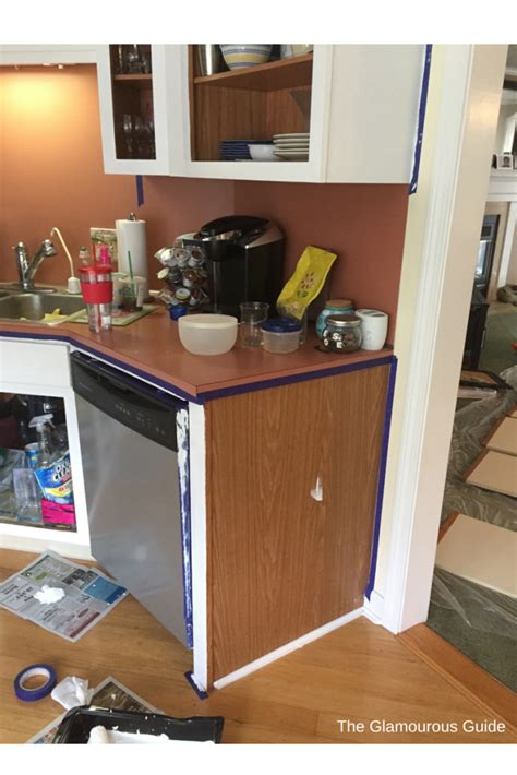 diy kitchen cabinet makeover  glamourous guide