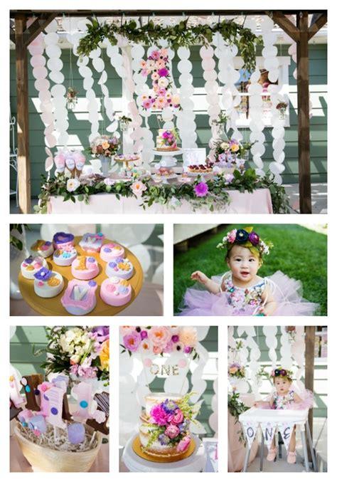 Garden Decoration For Birthday by 1st Birthday Garden Pretty My