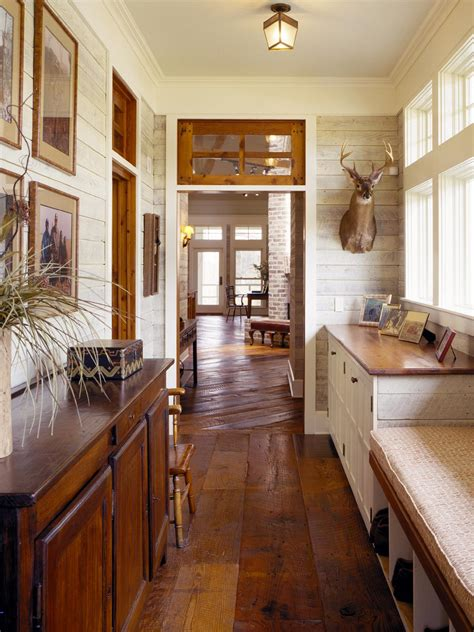 country style floor ls create a family friendly mudroom drop zone hgtv