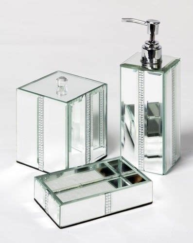 Mirrored Bathroom Accessories Sets by Bling Bathroom Bathroom Sets And Mirror Bathroom On