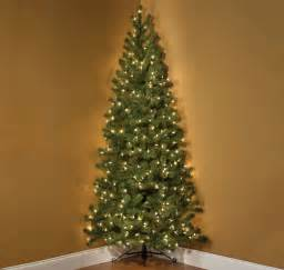 7 foot pre lit corner tree the green