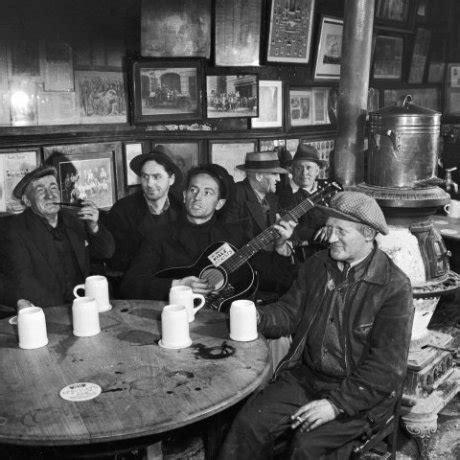 woody guthrie  nycs  irish tavern mcsorleys  ale