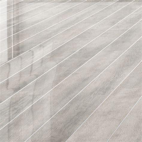 Krono Laminate Flooring by Falquon Flooring White Oak Silver Strip High Gloss