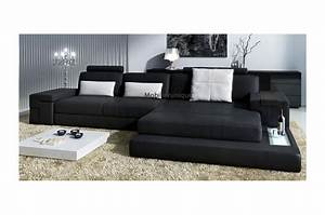 canape d39angle en cuir design avignon With canape large assise angle