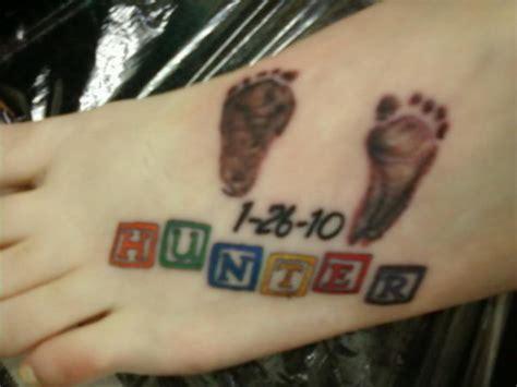 cute baby footprint tattoos hative