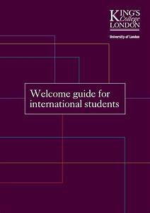 Welcome Guide For International Students By King U0026 39 S College