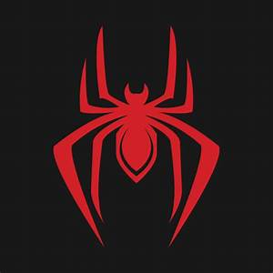 Classic Spider Logo (Miles) - Spider Man - Pillow | TeePublic