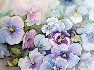 Aquarell Malen Blumen : bild stiefm tterchen blumen blumenaquarell aquarell ~ Articles-book.com Haus und Dekorationen