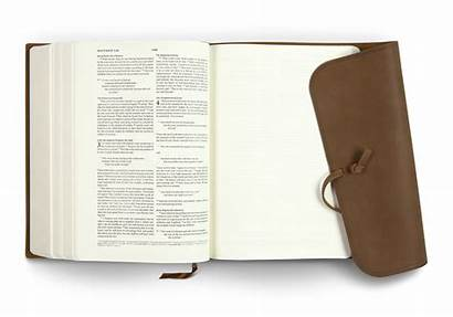 Bible Esv Journaling Leather Interleaved Edition Flap