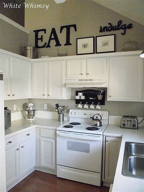 white kitchen decor ideas black accents white cabinets really liking these small