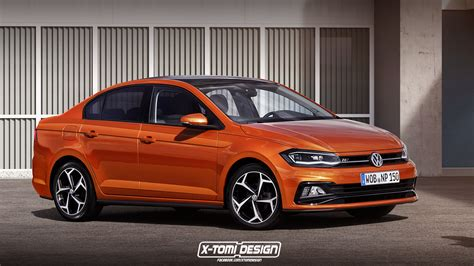 volkswagen alltrack 2018 2018 volkswagen polo alltrack sedan and variant rendered