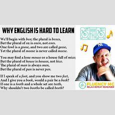 Crazy Spellings English Eslefl Grammarvocabularypronunciation Rap Song W Fluency Mc! Youtube